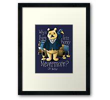 Edgar Allan Pooh Framed Print
