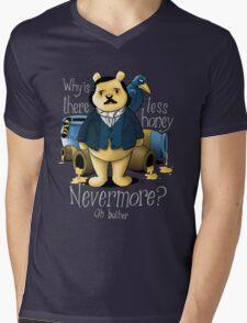 Edgar Allan Pooh Mens V-Neck T-Shirt