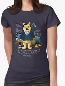 Edgar Allan Pooh Womens Fitted T-Shirt