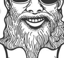Bearded Biker Sticker