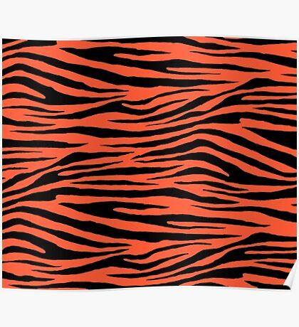 0548 Portland Orange Tiger Poster
