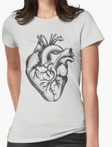 Human heart Womens Fitted T-Shirt
