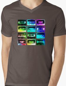 Cassettes Mens V-Neck T-Shirt