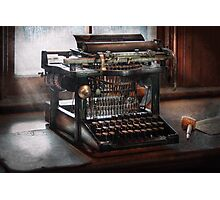 Steampunk - Typewriter - A really old typewriter  Photographic Print