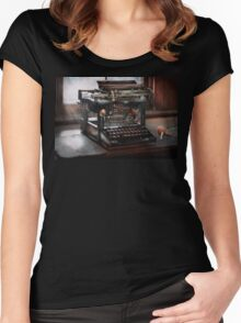 Steampunk - Typewriter - A really old typewriter  Women's Fitted Scoop T-Shirt