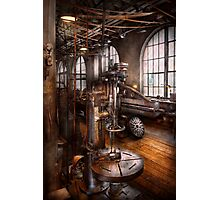 Machinist - Industrial Drill Press  Photographic Print