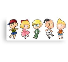 Mother/ Earthbound characters Canvas Print