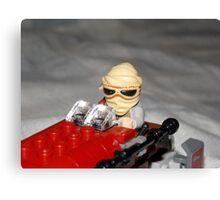 Lego Rey on her Speeder Canvas Print
