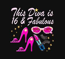 THIS DIVA IS 16 AND FABULOU Women's Fitted Scoop T-Shirt
