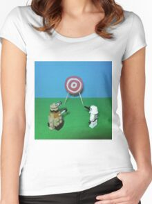 Intergalactic Shoot Off Women's Fitted Scoop T-Shirt