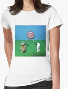 Intergalactic Shoot Off Womens Fitted T-Shirt