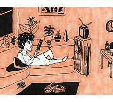 Solitude in Orange Photographic Print