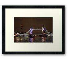 London Bridge & The City at Night Framed Print