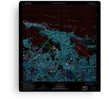 USGS TOPO Map Puerto Rico PR San Juan 362268 1969 20000 Inverted Canvas Print
