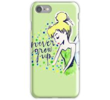Never Grew Up Tink Colour iPhone Case/Skin