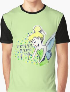 Never Grew Up Tink Colour Graphic T-Shirt