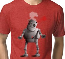 C.A.N. the robot Stood up in love Tri-blend T-Shirt
