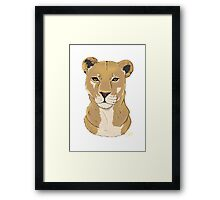 The Lioness - Bust Framed Print