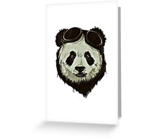 Punk Panda Greeting Card