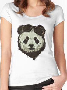 Punk Panda Women's Fitted Scoop T-Shirt