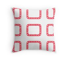 Red Squared Throw Pillow