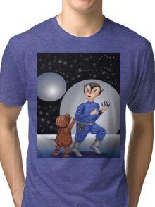 Alien and Robot Dog   Tri-blend T-Shirt