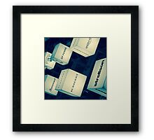 Labels Framed Print