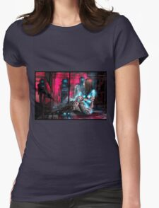Cyberpunk Painting 071 Womens Fitted T-Shirt