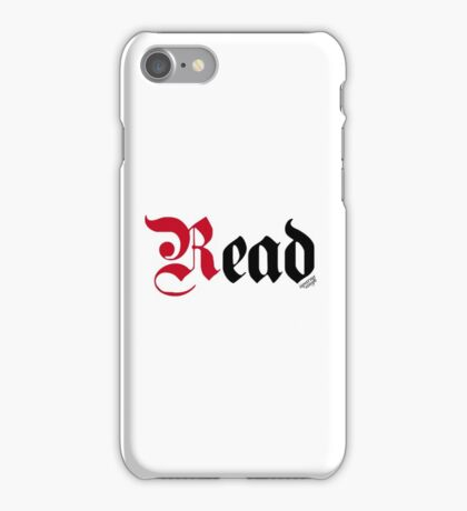 Read (White) iPhone Case/Skin