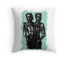 Siamese enemies Throw Pillow
