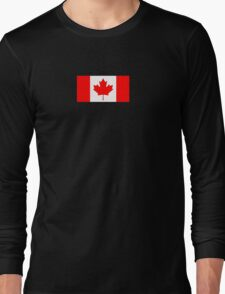 Canadian Flag - National Flag of Canada - Maple Leaf T-Shirt Sticker Long Sleeve T-Shirt