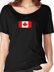 Canadian Flag - National Flag of Canada - Maple Leaf T-Shirt Sticker Women's Relaxed Fit T-Shirt