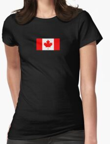 Canadian Flag - National Flag of Canada - Maple Leaf T-Shirt Sticker Womens Fitted T-Shirt