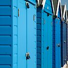 The Beach huts by Jeff  Wilson