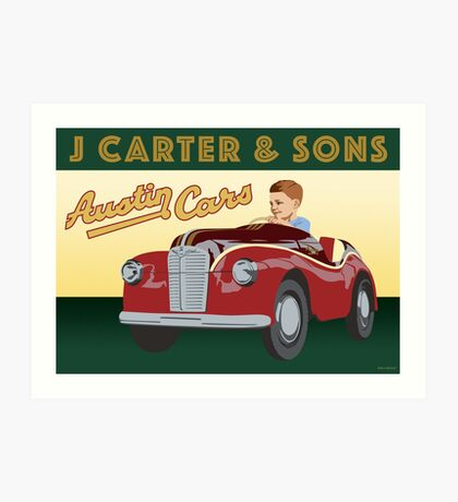 J Carter's Austin Cars Art Print