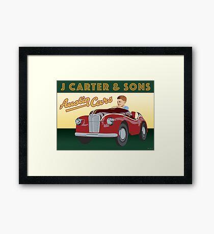 J Carter's Austin Cars Framed Print