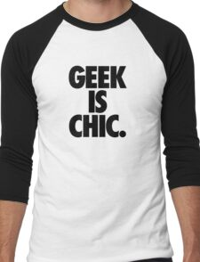 GEEK IS CHIC. Men's Baseball ¾ T-Shirt