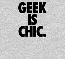GEEK IS CHIC. Womens Fitted T-Shirt