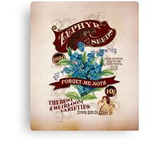 Zephyr Seed Packet Canvas Print