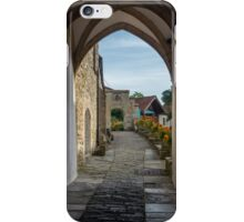 Footpath to Glastonbury Abbey iPhone Case/Skin