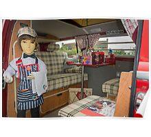 Vintage VW Camper van Interior Poster