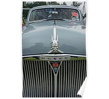 Rover 80 Classic Car Grill and Badge  Poster