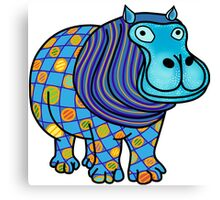 Blue hippo Canvas Print
