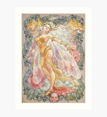Proud Titania in the Poisonous Blooms Art Print