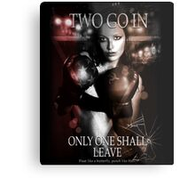 Boxing - Two go in, Only one shall leave Metal Print