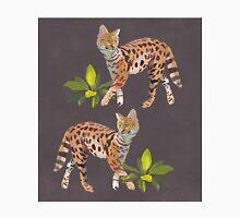 Jaunty Servals with Jungle Plants T-Shirt