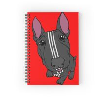 Sporty Bull Terrier Black and White Spiral Notebook