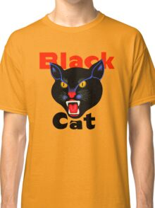 Black cat fireworks Classic T-Shirt