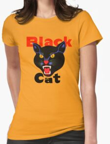 Black cat fireworks Womens Fitted T-Shirt