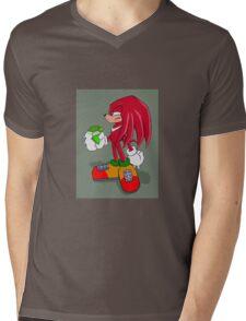 Knuckles Mens V-Neck T-Shirt